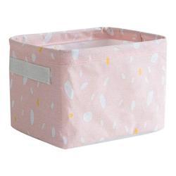 Wisremt Household Cotton Linen Storage Basket Desktop Debris Toy Storage Box Multi-Function Storage Box