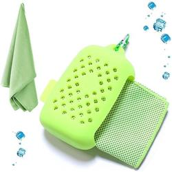 Cooling Towel, Cooling Towel Cooling Towel, Microfiber Towels Quick-drying Sports Towel Beach Towel Travel Towel for Fitness Gym Yoga and Outdoor Sports Bright Green