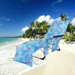 "GNEIKDEING Chair Beach Towel Beach Chair Cover Towel Cover for Pool Sun Lounger 29.5�X84.6"""