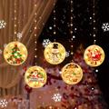 LED Christmas Curtain Lights - 4.9ft 5pcs LEDs Santa Merry Christmas String Lights DIY Lights Decorations for Indoor Outdoor Decor Home Garden Wedding Party Xmas