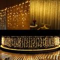 FTON LED Icicle Lights, 13ft 96 LED Fairy String Lights Plug in Extendable Curtain Christmas String Lights 8 Modes Decorative Rope String Xmas Wave Twinkle Light (4M 96LED, Warm White)