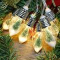 Christmas Tree LED Light String LED Light String Warm White 6 Bulbs 0.8 Meters 80cm 6LED Indoor Christmas Tree LED Light