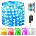 100 Led 16 Colors String Lights Multi Color Change String Lights Christmas Lights Remote Fairy Lights 33ft Firefly Twinkle Lights for Thanksgiving Christmas Decorations Bedroom Wedding