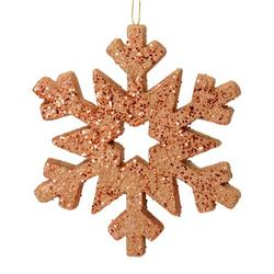 """12"""" Rose Gold Glitter Snowflake Outdoor"""