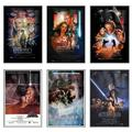 """Star Wars: Episode I, II, III, IV, V & VI - Framed 6 Piece Movie Poster / Print Set (Regular Style Designs) (Size: 27"""" x 40"""" each)"""