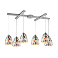 Pendants 6 Light With Satin Nickel Finish Medium Base 33 inch 360 Watts - World of Lamp