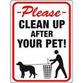 Hy Ko 20617 9 Inch By 12 Inch Clean Up After Your Pet Sign (Case of 10)