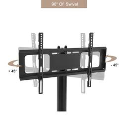 Mobile TV Stand for 32� – 65� LCD LED Flat Screen TV with Shelves Height Adjustable TV stand