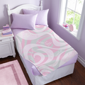 Personalized Swirly Fun Plush Blanket - Available in 2 Colors