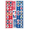 "Trends International NBA League - Logos 20 Wall Poster 16.5"" x 24.25"" x .75"" White Framed Version"