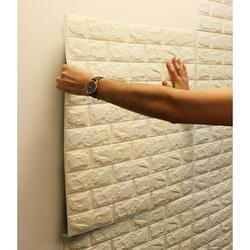 5 Pack 3D White Brick Wallpaper Self-Adhesive Wallpaper Home Decal Faux Foam Real Bricks Effect Wall Panels Room Decal