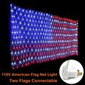 DYstyle American Flag 390LEDs String Lights Large USA Flag Net Light Outdoor Lights Waterproof for Christmas Party Garden Decor