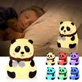 Panda Gifts, Night Light for Kids Room, Panda Baby Night Light, Gifts for Baby Boys Girls, 7 Color Changing Night Light Tap Control.