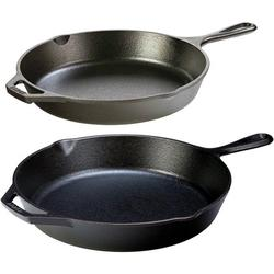 Lodge Seasoned Cast Iron 2 Skillet Bundle. 12 inches and 10.25 inches Set of 2 Cast Iron Frying Pans, 12� and 10.25� CAST IRON SKILLET BUNDLE..., By Visit the Lodge Store