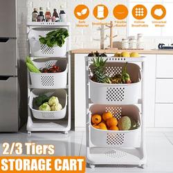 3 Tiers 3-Tier Rolling Utility Cart Storage Flexible Basket Cart Shelves Multifunction Storage Trolley Service Cart with Handles and Roller Wheels for Home Bathroom, Kitchen