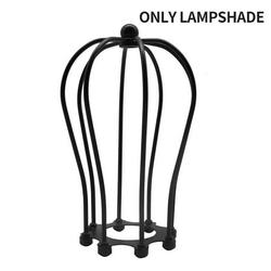 Vintage Cage Lampshade Antique Industrial DIY Iron Wire Bird Cage Lamp Guard Pomelo Shape Metal Art Lampshade for Ceiling Fans Pendant Light Ceiling Light Wall Light