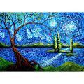Chinatera Full Round Drill Rhinestone Picture DIY Living Tree Diamond Painting Poster