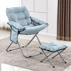 OUSGAR Velvet Tufted Accent Chair with Ottoman and Side Pocket Folding Sleeper Adjustable Lazy Lounge Chair Indoor/Outdoor Reclining Single Sofa Couch for Garden Living Reading Room Bedroom