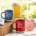 Personalized First Coffee, Then Cocktails Mug & Wine Glass Set - Choose from Mug & Wine Glass or Mug & Beer Mug, Available in 2 Colors