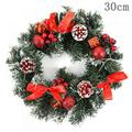 """Sebbolt 16"""" Christmas Wreath with Remote LED String Lights - Pre Lit Xmas Door Wreath, Battery Operated Lights with Timer, Home Ornaments Decorations"""