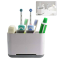 ROBOT-GXG Toothbrush Holder Bathroom Supplies Storage Box Multifunctional Plastic Toilet Storage Toothbrush Holder Multi-Functional Bathroom Storage Organizer Caddy for Toothbrush Toothpaste