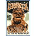 """Star Wars - Framed Movie Poster / Print (Chewbacca The Wookie - Retro / Vintage Style) (Size: 24"""" x 36"""")"""