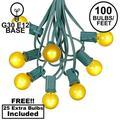 G30 Patio String Lights with 125 Globe Bulbs - Garden Hanging String Lights - Vintage Backyard Patio Lights - Outdoor String Lights - Market Cafe Bistro String Lights - 100 Feet
