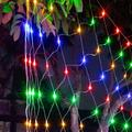 Qisuw Outdoor Mesh Net Lights with Remote LED Tree-wrap Party Background Lamp 8 Modes Dimmable String Lights for Christmas Halloween