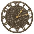 Whitehall Products Flourish 14-in. Indoor/Outdoor Wall Clock