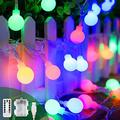 Battery Operated Usb 2 In 1 String Lights - 40Ft 100 Led Globe String Lights With Timer& Memory Function & 8 Modes String Lights For Christmas Patio Party Indoor Outdoor Bedroom,Multicolor