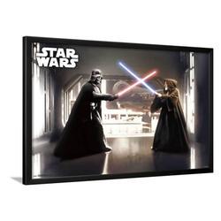 "Art.com Star Wars FIRST DUEL Lamina Framed Poster, 24"" x 36"""
