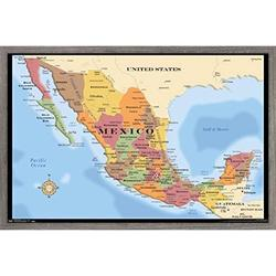 Map - Mexico Poster