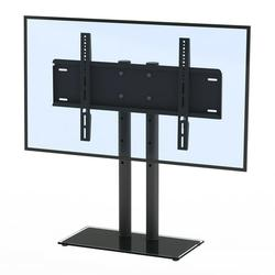 Universal TV Stand, Wall Mount Bracket TV Stand for 32 to 66 inch TVs, Height Adjustable TV Mount Stand, Security Wire, Max. VESA 400x600mm, Holds up to 110lbs