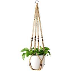 Hanger Macrame Plant Holder Macrame Hanger Cotton Plant Hanger Flower Hanger Pot Hanger Flower Pot Hanger 105cm, 4 Legs Brown
