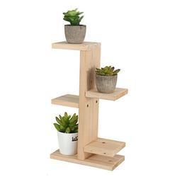 5 Tier Wooden Succulent Plant Stand, Vertical Organizer Storage Shelf Holder Flower Planter Pot Display Rack,Indoor Outdoor Garden Patio Home Office Decoration