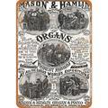 1883 Mason & Hamlin Organ & Piano Metal Sign - 7x10 inch - Vintage Look