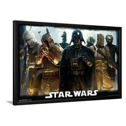 Star Wars - Bounty Hunters Lamina Framed Poster Wall Art - 36x24