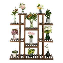 Wood Flower Rack,Plant Stand,Wood Shelves,Yard Garden Patio Balcony Multi-Function Storage Rack Bookshelf Rack,Decorative Planter Pot Display Stand Pot Shelf Planter Organizer Stand
