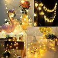 LED Globe String Lights, 15Ft 30 LED Waterproof Fairy String Lights, Outdoor String Lights Christmas Tree Lights Battery Operated Decorative Lighting for Home, Garden, Party, Festival