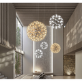 Led Spark Ball Chandelier Lamp,Hanging Light Fixture Pendant Ceiling Lamp,Pendant Chandelier for The Living Room Dining Room Clothing Store-12 lamp Beads 7.87inch(20cm)