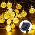B-right Solar String Lights Outdoor, 40 LED 25ft Solar Powered Crystal Ball String Lights 8 Mode with Remote String Lights Waterproof for Halloween, Christmas, Home, Patio, Garden, Wedding and Pa