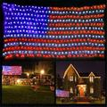 American Flag Lights,420 Super Bright LEDs,USA Flag net Lights Outdoor Waterproof Adornment for Independence Day National Day Memorial Day Halloween Christmas Festival Party Decoration
