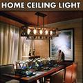 Rectangle Wood Metal Pendant Lamp, Retro Rustic Vintage Industrial Edison Ceiling Lamp Linear Chandeliers