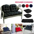 Willstar 3Pcs Recliner Cushion Set Garden Rocking Deck Chair Back Wicker Cushion Loveseat Patio Bench Pad Outdoor Indoor for Travel Holiday