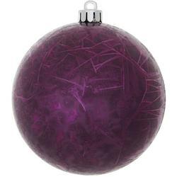 """Vickerman 344569 - 10"""" Plum Crackle Ball Christmas Tree Ornament (N141726DV)"""