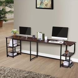 L Shaped Computer Desk, Home Office Corner Gaming Desk, 59inch L-Shape Space-Saving Desk, Modern L Shaped Storage Racks on Both Sides Desk Table Suitable for Study Tables, Game Tables, Computer Table