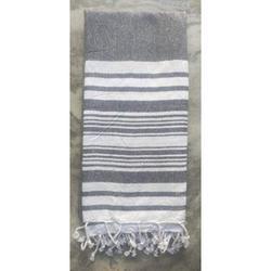 Unique Texture 2 Pack Cotton Beach Towel, Turkish Beach Towel, Gym Towels, Turkish Peshtemal Towels, Pestemal Towels, Thin Camping Bath, Pool Blanket, Fouta Towels 100% Cotton- 36x71 Inch - Black
