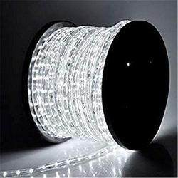 110V 2-Wire Waterproof LED Rope Light Kit for Background Lighting,Decorative Lighting,Outdoor Decorative Lighting,Christmas Lighting,Trees,Bridges,Eaves (100ft/30M, White)