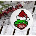 Popeven Grinch 2020 Face Mask Christmas Christmas Ornament,Personalize Grinch,Grinch Christmas Ornament,COVID Christmas,COVID Christmas Ornament,Quarantine Christmas Ornament