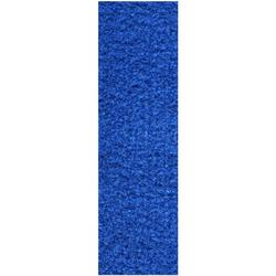 Commercial Indoor/Outdoor Blue Custom Size Runner 4' x 34' - Area Rug with Rubber Marine Backing for Patio, Porch, Deck, Boat, Basement or Garage with Premium Bound Polyester Edges